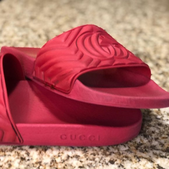 Red Gucci Slippers